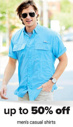 Up to 50% Off Men's Casual Shirts from Belk