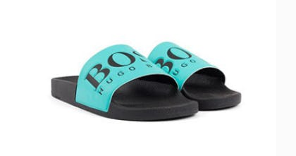 Italian-Made Slide Sandals from Boss