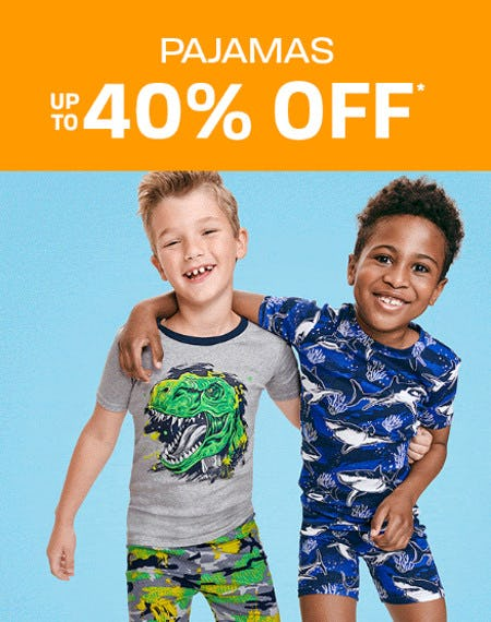 Pajamas up to 40% Off from The Children's Place