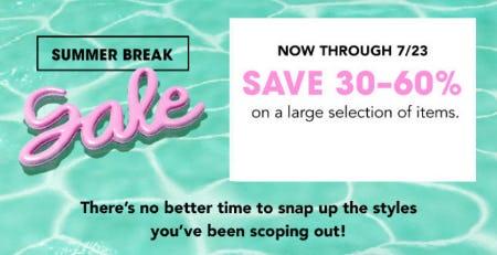 30-60% Off Summer Break Sale from Bloomingdale's