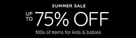 Summer Sale: Up to 75% Off from Pottery Barn Kids