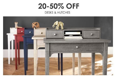 20–50% Off Desks & Hutches from Pottery Barn Kids