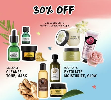 db134e6311 30% Off Regular-Priced Items from The Body Shop
