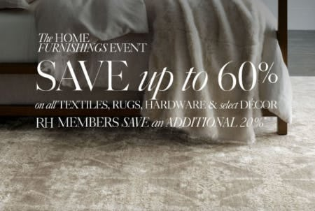 Up to 60% Off The Home Furnishings Event