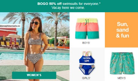 BOGO 50% Off Swimsuits from Target