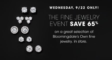 The Fine Jewelry Event Save 65% from Bloomingdale's