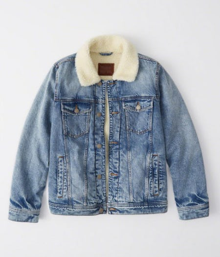 Sherpa Denim Jacket from Abercrombie & Fitch