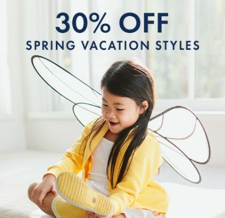 30% Off Spring Vacation Styles from Hanna Andersson