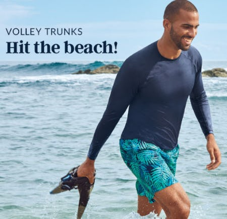 Volley Trunks Hit The Beach from Lands' End
