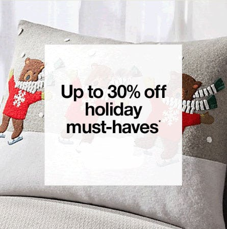 Up to 30% Off Holiday Must-Haves from Crate & Barrel