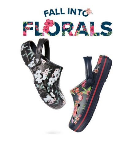Fall in Love with Our New Fall Florals from Crocs