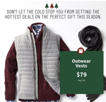 Outerwear Vests $79 from Jos. A. Bank