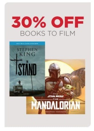30% Off Books to Film