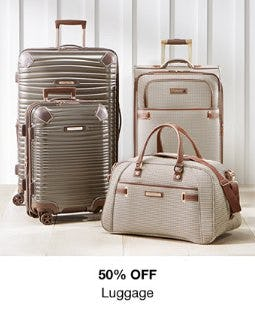 50% Off Luggage from macy's