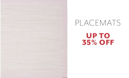 Up to 35% Off Placemats from Sur La Table