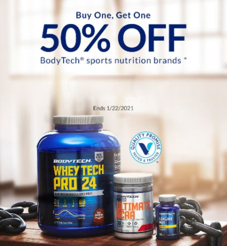 BOGO 50% Off BodyTech Sports Nutrition Brands from The Vitamin Shoppe