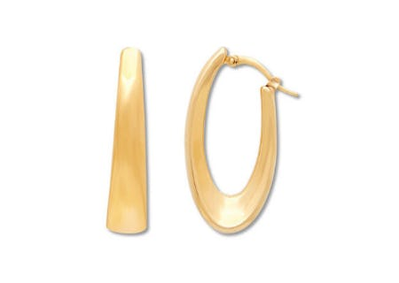 Oval Hoop Earrings 14K Yellow Gold from Jared Galleria Of Jewelry