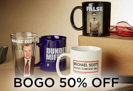 BOGO 50% Off Drinkware from Spencer's Gifts