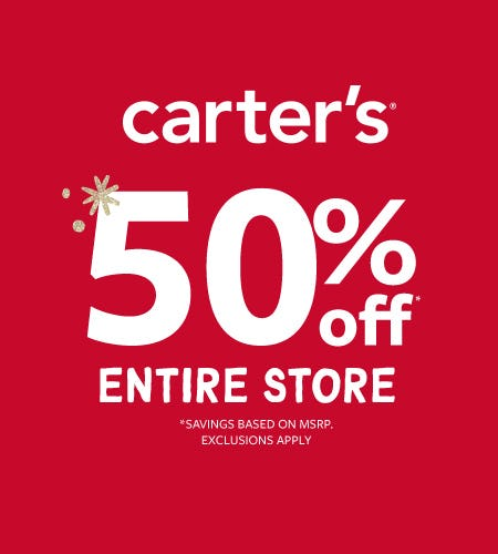 What A Gift! 50% Off Entire Store from Carter's Oshkosh
