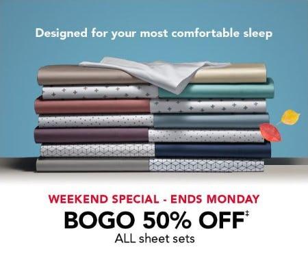 BOGO 50% Off All Sheet Sets from Sleep Number
