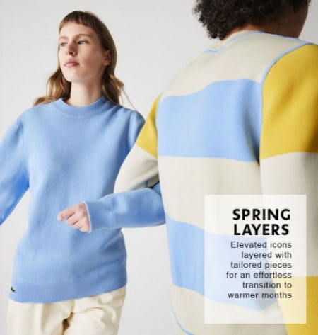 Layer Up for the Spring from Lacoste