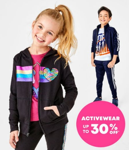 Activewear up to 30% Off from The Children's Place