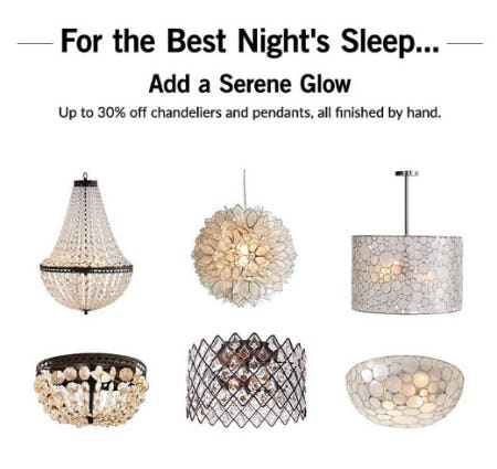 Up to 30% Off Lighting from Pottery Barn