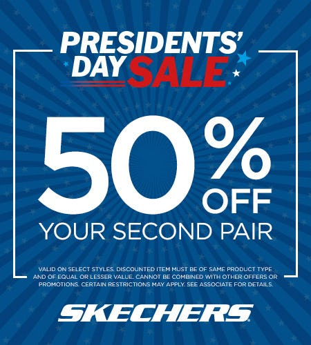SHOP SKECHERS BOGO 50% OFF PRESIDENT'S DAY SALE! from Skechers