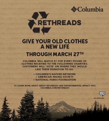 Columbia Sportswear ReThreads Program from Columbia