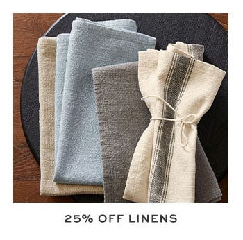 25% Off Linens from Pottery Barn