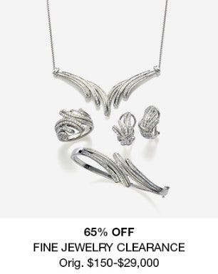 65% Off Fine Jewelry Clearance