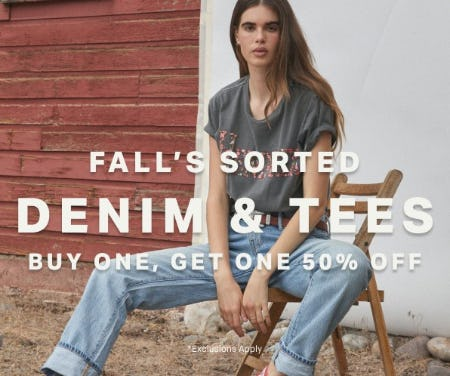 BOGO 50% Off Denim & Tees from Lucky Brand Jeans