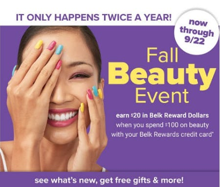 Fall Beauty Event from Belk