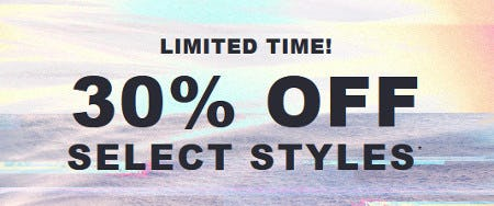 30% Off Select Styles from Hollister Co.