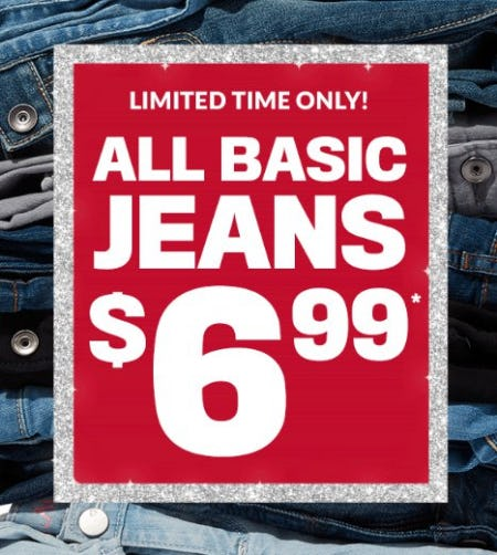 All Basic Jeans $6.99 from The Children's Place