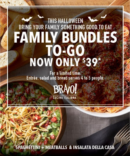 Family Bundles To-Go for only $39