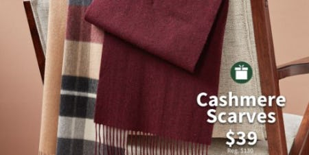 Cashmere Scarves $39 from Jos. A. Bank