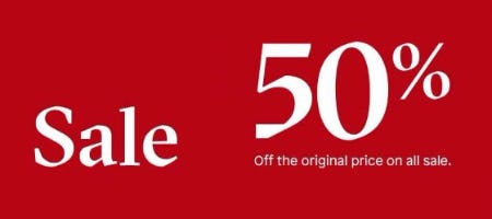 50% Off All Sale