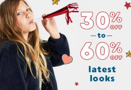 30% Off to 60% Off Latest Looks from Gymboree