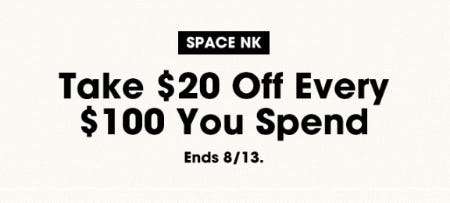 Take $20 Off Every $100 You Spend from Bloomingdale's
