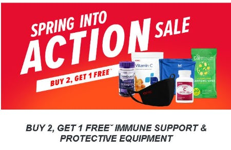 Buy 2 Get 1 Free Immune Support & Protective Equipment from GNC