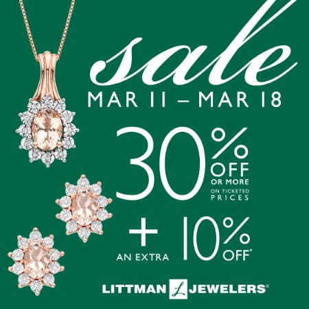 Lucky Saving Sale from Littman Jewelers