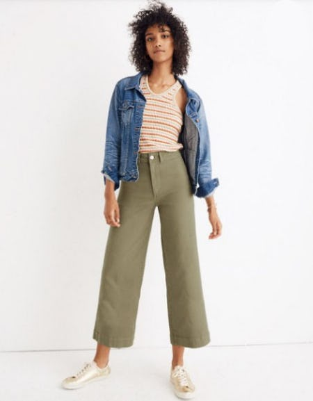 Emmett Wide-Leg Crop Pants from Madewell