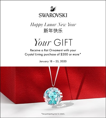 Your Sparkling Lunar New Year Rat Ornament Gift from Swarovski