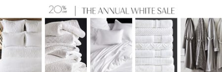 20% Off The Annual White Sale from Pottery Barn