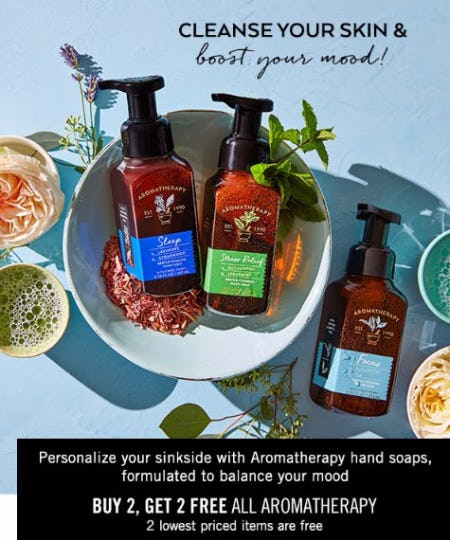 Buy 2, Get 2 Free All Aromatherapy Hand Soaps