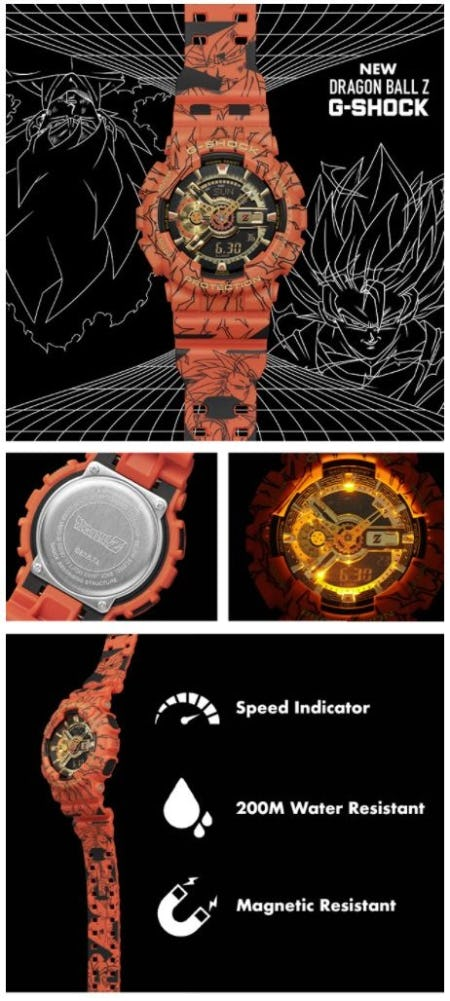 The New G-Shock x Dragon Ball Z Watch from EbLens Clothing and Footwear