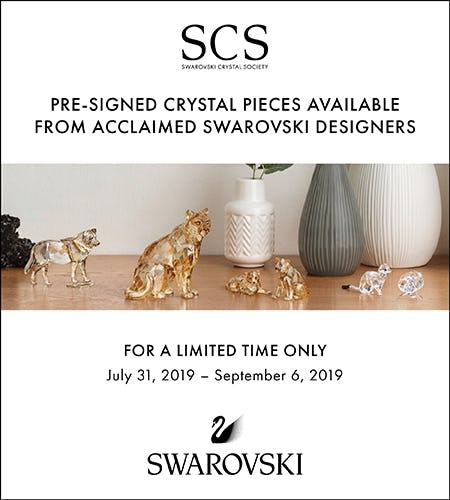 Limited Time Designer Signed Crystal Pieces from Swarovski