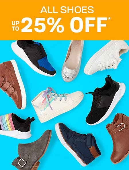 All Shoes Up to 25% Off