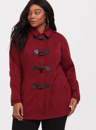 Burgundy Hooded Light Coat